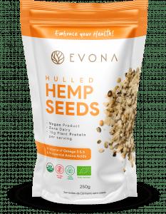 Embalagem Hemp Seeds Superfoods evona